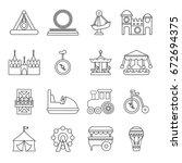 Amusement Park Icons Set....