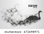 swan of particles. silhouette... | Shutterstock .eps vector #672698971