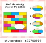 visual logic puzzle  find... | Shutterstock .eps vector #672700999