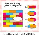 visual logic puzzle  find... | Shutterstock .eps vector #672701005