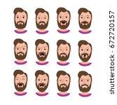 male cartoon characters...   Shutterstock .eps vector #672720157