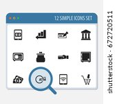 set of 12 editable banking...