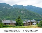 house in the mountains | Shutterstock . vector #672725839