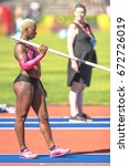 Small photo of STOCKHOLM, SWEDEN - JUNE 18, 2017: Yarisley Silva (CUB) at the woman pole vault in IAAF Diamond leauge Bauhaus Galan at Stockholm stadion. leauge Bauhaus Galan at Stockholm stadion.