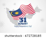 31 august. malaysia...   Shutterstock .eps vector #672728185
