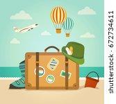 travel | Shutterstock . vector #672734611