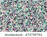 beautiful abstract modern... | Shutterstock .eps vector #672739741