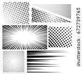 collection of halftones. vector ... | Shutterstock .eps vector #672739765