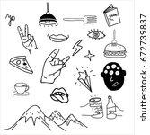 doodle sketches | Shutterstock .eps vector #672739837