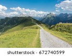 mountain bike trail   mountain... | Shutterstock . vector #672740599