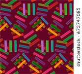 endless abstract pattern.... | Shutterstock .eps vector #672747085
