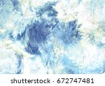 abstract winter sky with shiny... | Shutterstock . vector #672747481