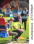 Small photo of STOCKHOLM, SWEDEN - JUNE 18, 2017: Michel Torneus (SWE) at the mens longjump at the IAAF Diamond leauge Bauhaus Galan at Stockholm stadion.