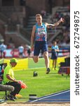 Small photo of STOCKHOLM, SWEDEN - JUNE 18, 2017: Radek Juska (CZE) in the mens longjump at the IAAF Diamond leauge Bauhaus Galan at Stockholm stadion.