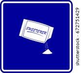 open artificial sweetener... | Shutterstock .eps vector #672751429