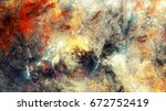 bright artistic splashes.... | Shutterstock . vector #672752419