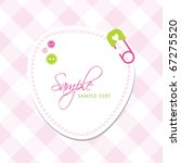 baby arrival card with copy... | Shutterstock .eps vector #67275520