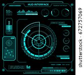 concept of the hud interface.... | Shutterstock .eps vector #672757069