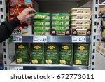 germany   may 3  2017  shelves... | Shutterstock . vector #672773011