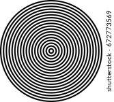 stripe circle vector background ... | Shutterstock .eps vector #672773569