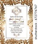 vintage baroque style wedding... | Shutterstock .eps vector #672776767