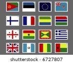 stamp flag04   Shutterstock .eps vector #6727807