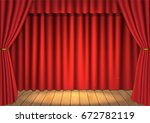 vector scene with a curtain | Shutterstock .eps vector #672782119