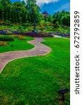 landscape of mae fah luang... | Shutterstock . vector #672792859