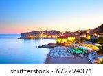 Panoramic View Of Dubrovnik At...