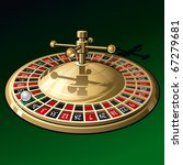 roulette wheel on dark green... | Shutterstock .eps vector #67279681