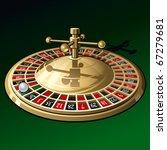 roulette wheel on dark green... | Shutterstock .eps vector #67279681