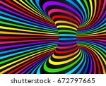 dark neon rainbow colors... | Shutterstock . vector #672797665