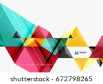 triangular low poly vector a4... | Shutterstock .eps vector #672798265
