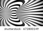 curved stripes optical illusion ... | Shutterstock . vector #672800149
