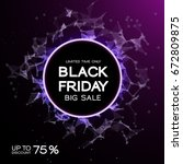 black friday sale abstract... | Shutterstock .eps vector #672809875