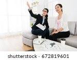 professional young business... | Shutterstock . vector #672819601