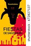 spain fiestas or festivals... | Shutterstock .eps vector #672827137