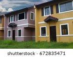 row house | Shutterstock . vector #672835471