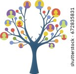colorful human tree | Shutterstock . vector #672835831
