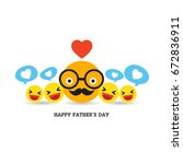 fathers day greeting card | Shutterstock .eps vector #672836911