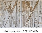 Distressed wood barn door panels