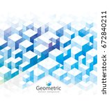 abstract geometric blue texture ... | Shutterstock .eps vector #672840211