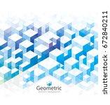 abstract geometric blue texture ...   Shutterstock .eps vector #672840211
