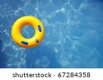 Yellow Pool Float  Pool Ring I...