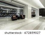 luxury lobby interior. | Shutterstock . vector #672859027
