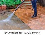 ground water spray outdoor... | Shutterstock . vector #672859444