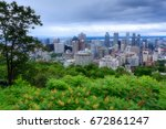 montreal skyline view | Shutterstock . vector #672861247