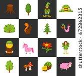 illustration  cartoon children ... | Shutterstock . vector #672862315