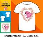 template t shirt with an trendy ... | Shutterstock .eps vector #672881521