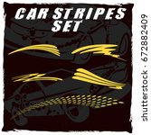 tribal and cool car stripe set... | Shutterstock .eps vector #672882409